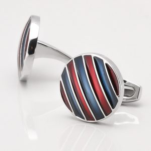 Burgundy & Navy Cufflinks