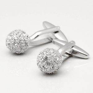 Clear Crystal Sphere Cufflinks