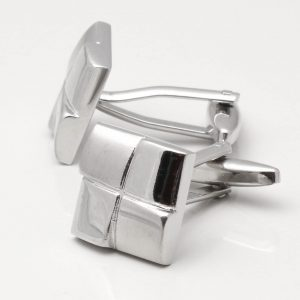 Four Squared Silver Cufflinks