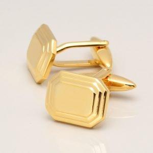 GOLD OCTAGON CUFFLINKS