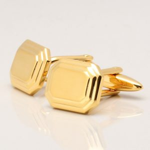 Gold Octagon Cufflinks