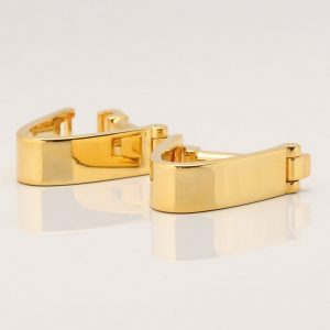 Gold Plated Wrap Around Cufflinks