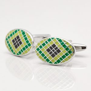 Green & Black Epoxy Cufflinks