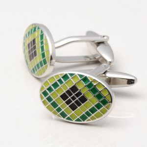 Green & Black Epoxy Cufflinks