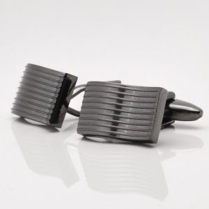 Gunmetal Wavy Lined Cufflinks