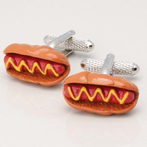 HOT DOG CUFFLINKS