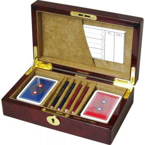 Laminated Camphor Burlwood Bridge Set