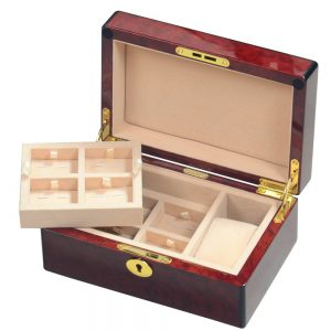 Laminated Makah Burlwood Veener 1 Watch & 8 Cufflink Valet Box
