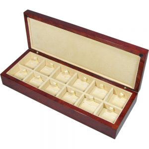 Laminated Makah Burlwood Veener 12 Cufflink Box