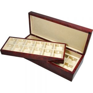 Laminated Makah Burlwood Veener 24 Cufflink Box