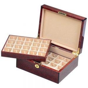 Laminated Makah Burlwood Veener 40 Cufflink Box