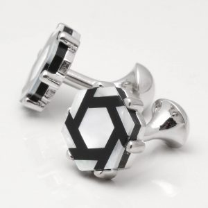 Mother of Pearl Hexagon Cufflinks