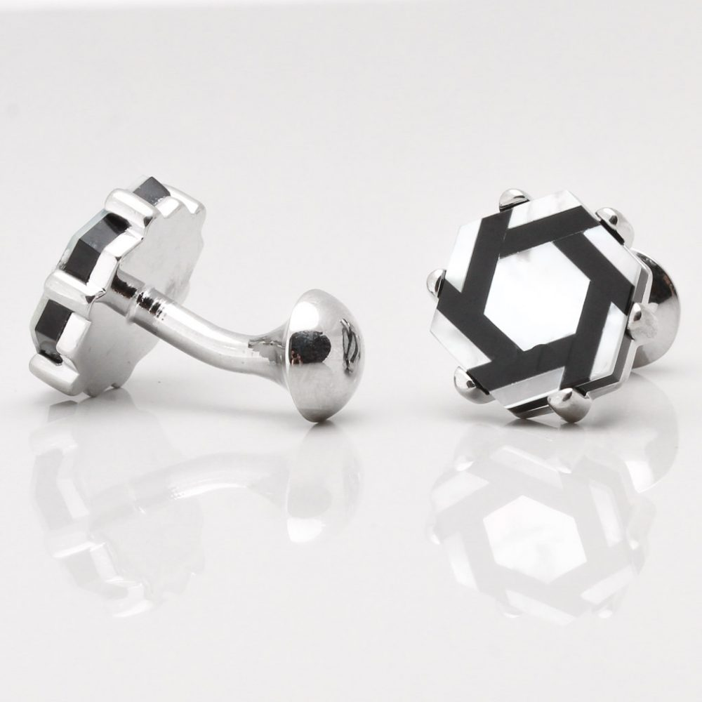 Mother of Pearl Hexagon Cufflinks Gallery
