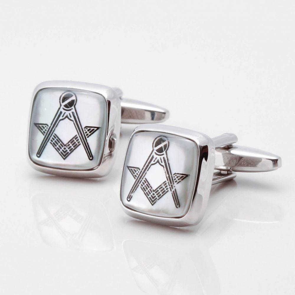 Mother of Pearl Masonic Cufflinks