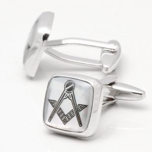 Mother of Pearl Masonic Cufflinks