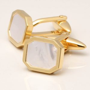 Mother of Pearl Octagon Cufflinks