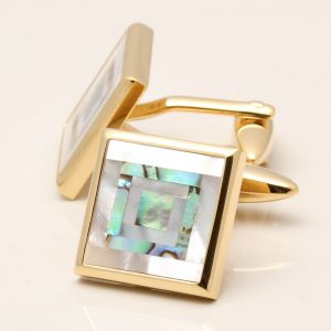 Mother of Pearl & Paua Shell Cufflinks