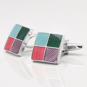 Multi Epoxy Square Cufflinks