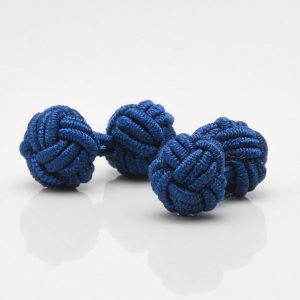 Navy Blue Knot Cufflinks