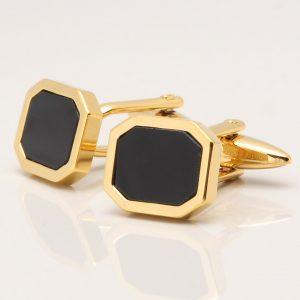 Onyx Octagon Cufflinks