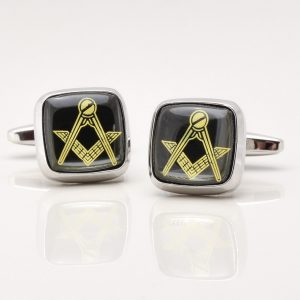 Onyx Stone Masonic Cufflinks