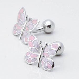 Pink & Purple Butterfly Cufflinks