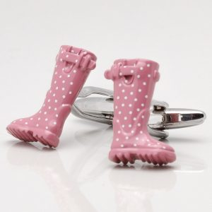 Pink Welly Cufflinks