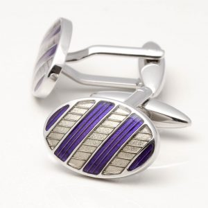 Purple & Ivory Cufflinks