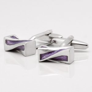 Purple Twist Cufflinks