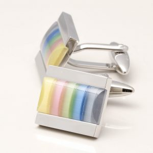 Rectangular Cats Eye Cufflinks