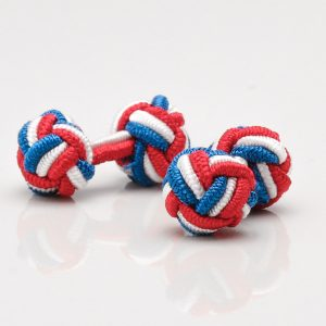 Red, White & Blue Knot Cufflinks