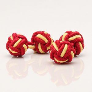 Red & Yellow Knot Cufflinks