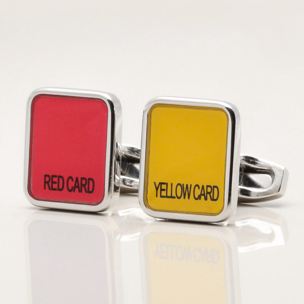 Red and Yellow Card Cufflinks