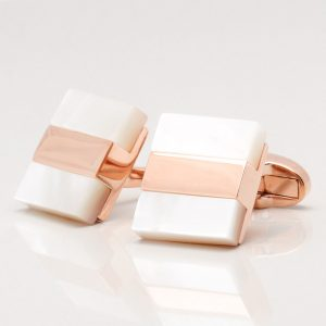 Rose Gold with Mother of Pearl Cufflinks