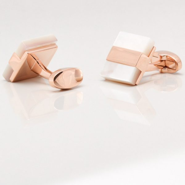 Rose Gold with Mother of Pearl Cufflinks Gallery