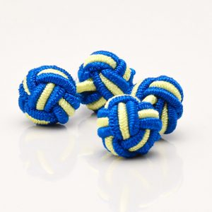 Royal Blue & Yellow Knot Cufflinks