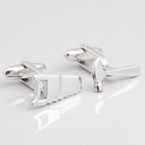 STERLING SILVER HAMMER & SAW CUFFLINKS