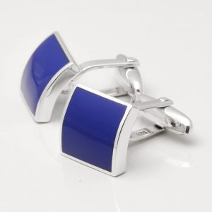 STERLING SILVER LAPIS CUFFLINKS