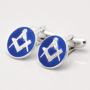STERLING SILVER MASONIC CUFFLINKS