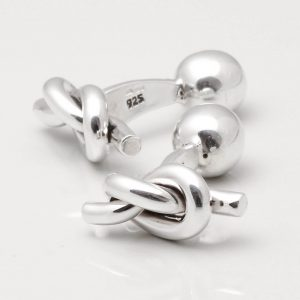 STERLING SILVER NAUTICAL KNOT CUFFLINKS