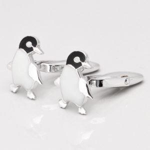 STERLING SILVER PENGUIN CUFFLINKS