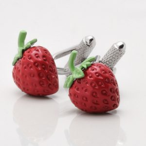STRAWBERRY CUFFLINKS
