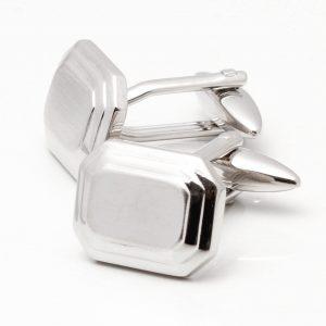 Silver Octagon Cufflinks