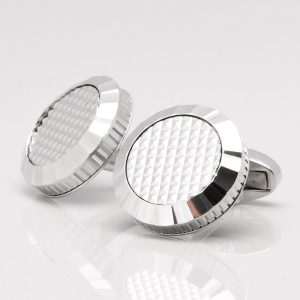 Silver Plated Lattice Cufflinks
