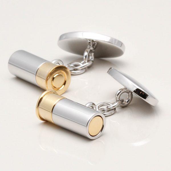 Silver Plated Shotgun Cartridge Cufflinks