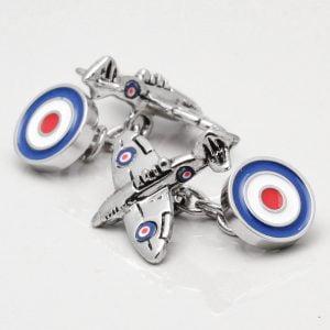 Spitfire Cufflinks with RAF Roundel Clasp