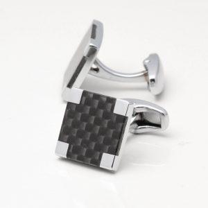 Square Carbon Fibre Cufflinks