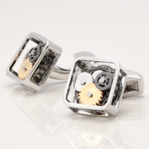 Square Gear Movement Cufflinks