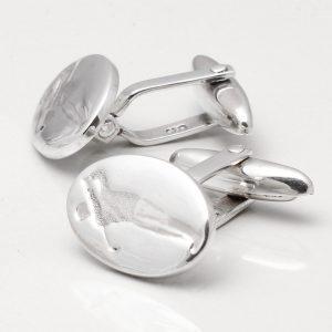 Sterling Silver Golfer Cufflinks