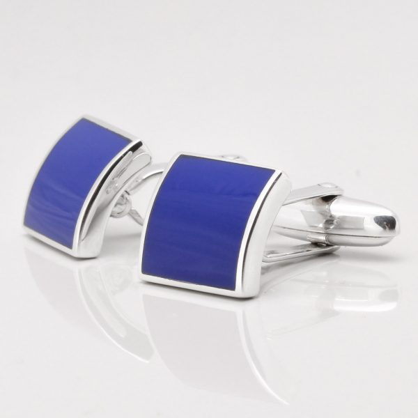 Sterling Silver Lapis Cufflinks